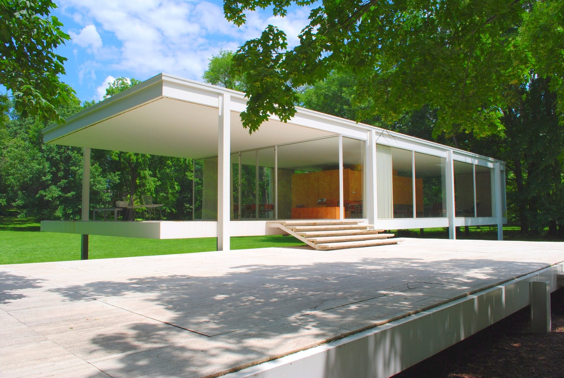 farnsworth house mies van der rohe josh mings studio. Black Bedroom Furniture Sets. Home Design Ideas